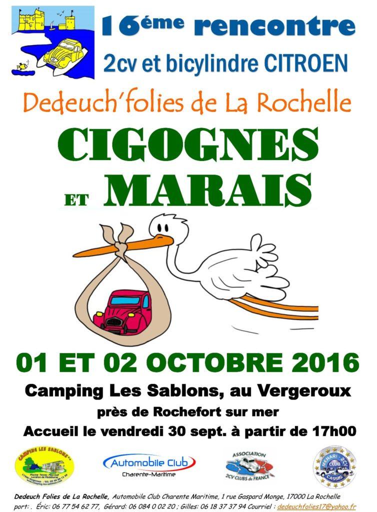 Affiche 2016 Cigogne marais